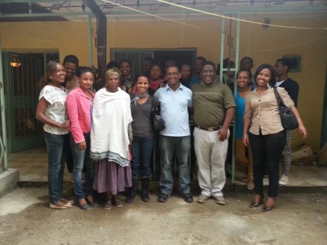 The Kassas and home church leaders in Addis Ababa