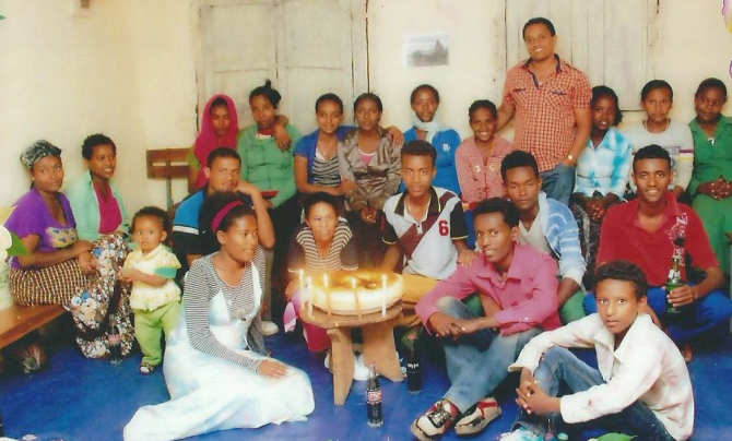 The members of the Dangila home church